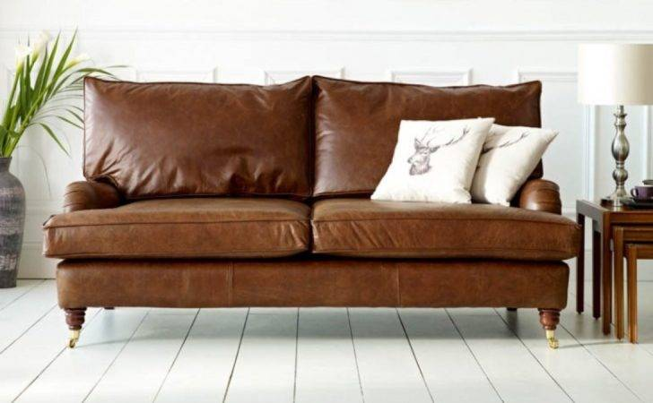 Holbeck Leather Vintage Couch Sofas