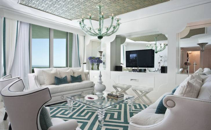 Hollywood Regency Interior Design Eclectic Living Room