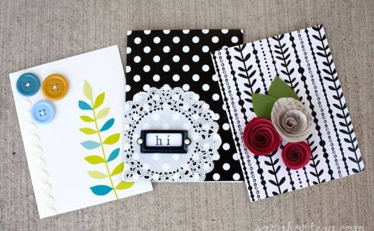 Homemade Cards Quick Easy Version