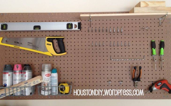 Homemade Pegboard Get Organized Houston Diy