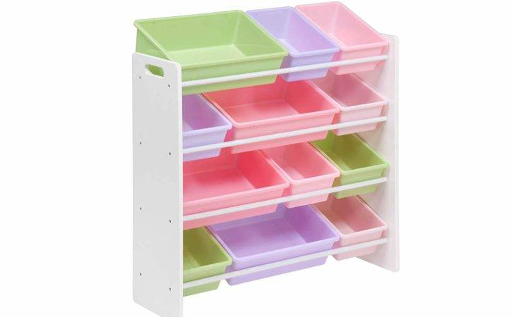 Honey Can Kids Toy Organizer Storage Bins White