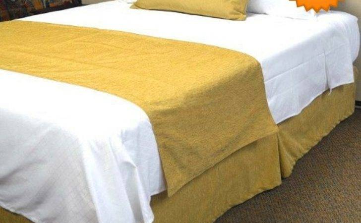 Hotel Jacquard Chenille Bed Runners Scarfs Micro
