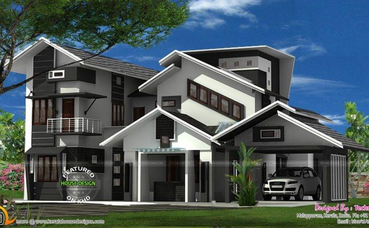 House Cantilever Balcony Kerala Home Design