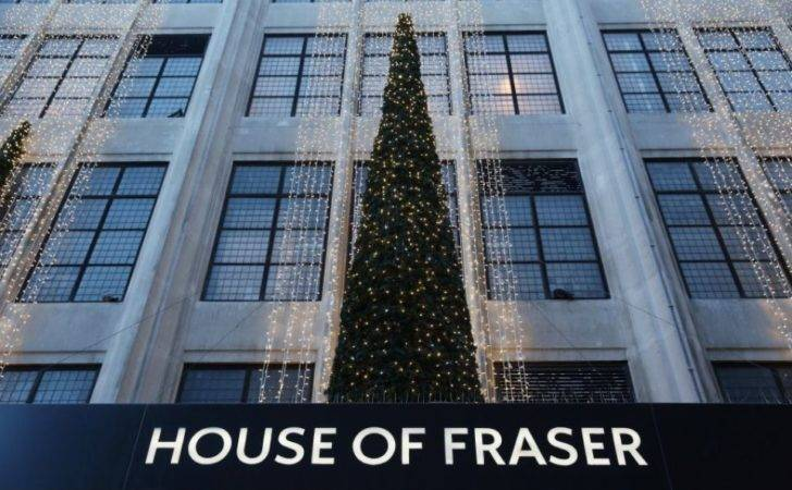 House Fraser Toasts Christmas Growth Boss Hovers