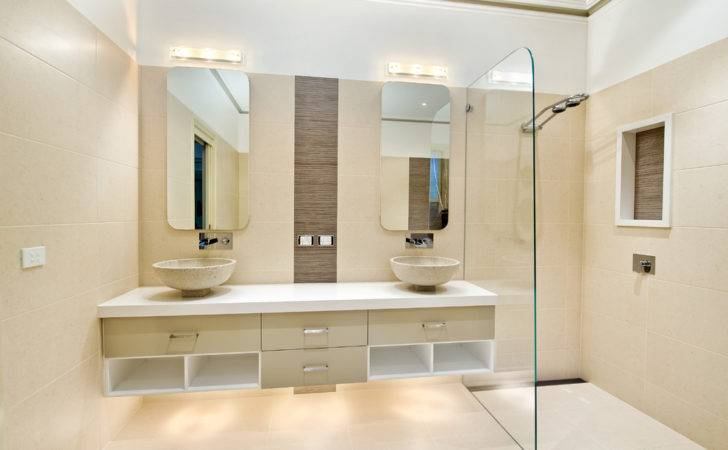 Houzz Bathroom Ideas Contemporary Beige Tile