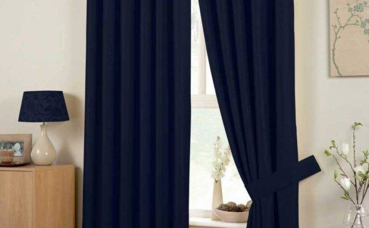Hudson Ready Made Curtains Navy Delivery