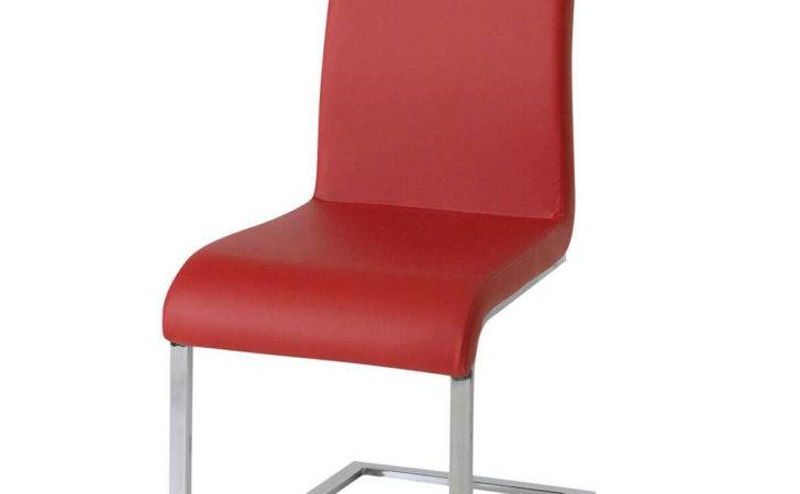 Hue Multi Coloured Faux Leather Dining Chairs Red Fads