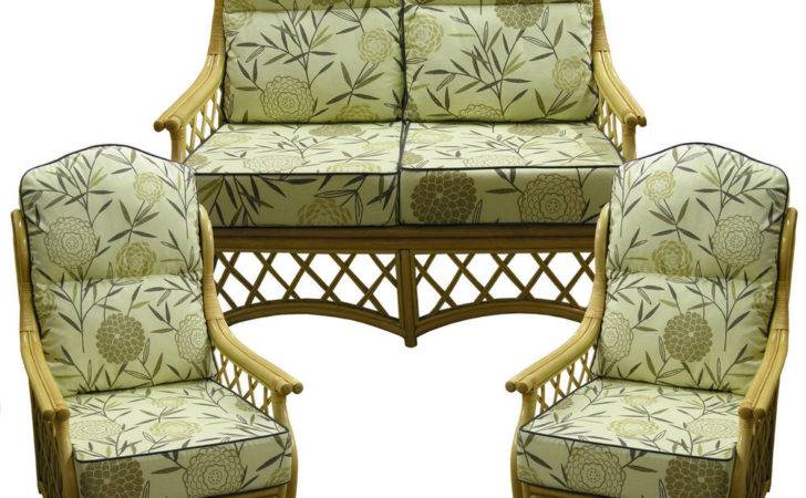Hump Back New Cane Suite Cushions Conservatory Wicker