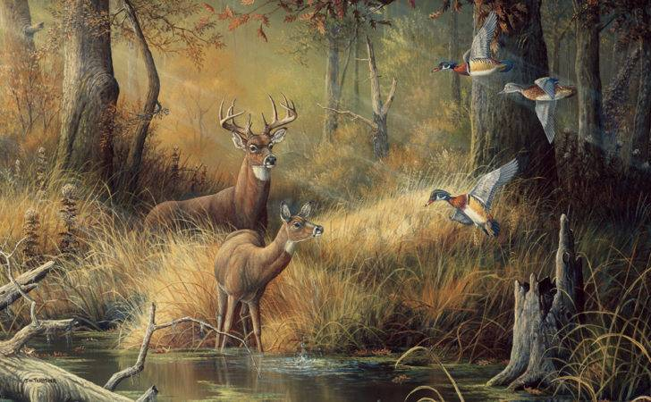 Hunters Dream Mural Unpasted
