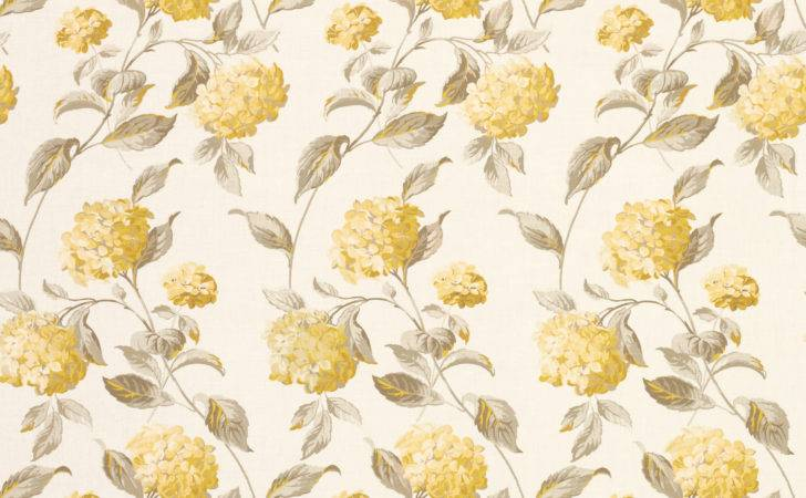 Hydrangea Camomile Floral Linen Mix Fabric Laura Ashley