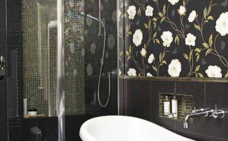 Ideas Bathrooms Grasscloth