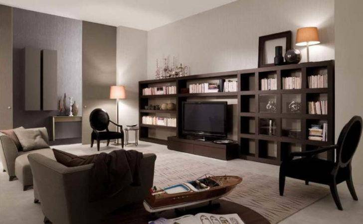 Ideas Brown Living Room Cabinet Books