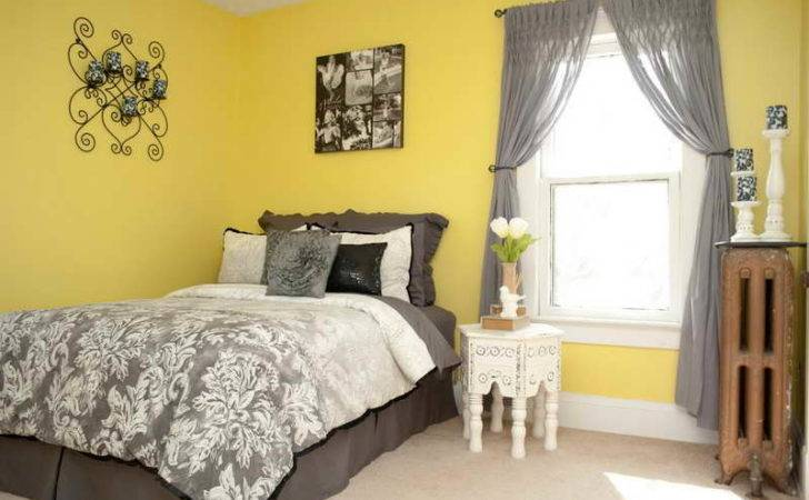Ideas Guest Room Decorating Yellow Walls