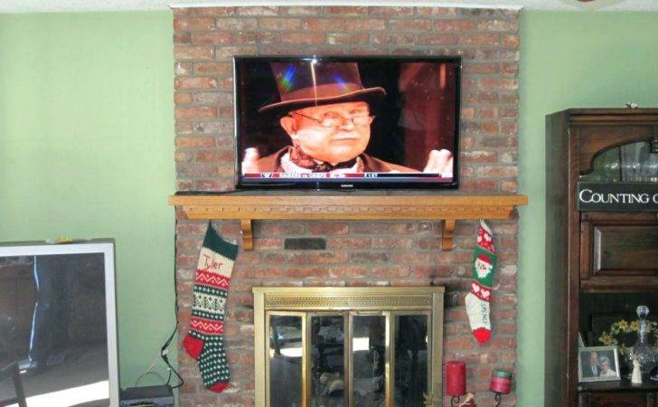 Ideas Mounting Flat Screen Over Fireplace Best