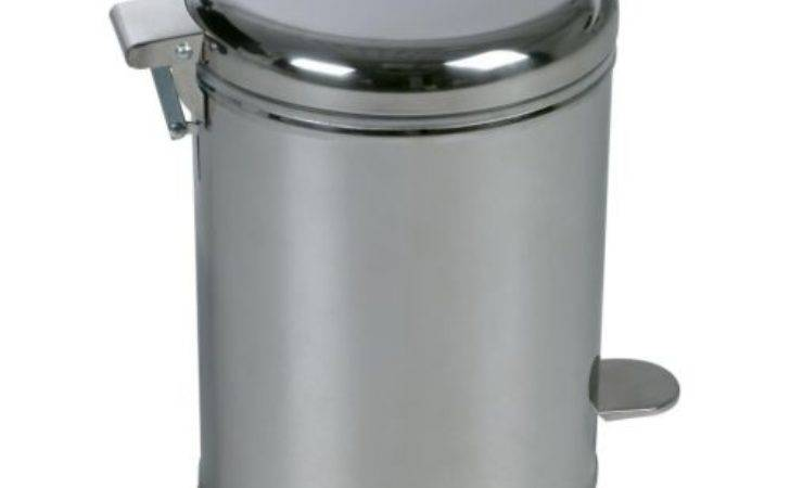 Ikea Bathroom Pedal Bin Trash Can Stainless Steel New Ebay