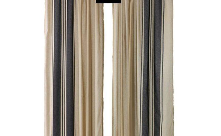 Ikea Bjornloka Curtains Drapes Beige Black Stripes Rnloka