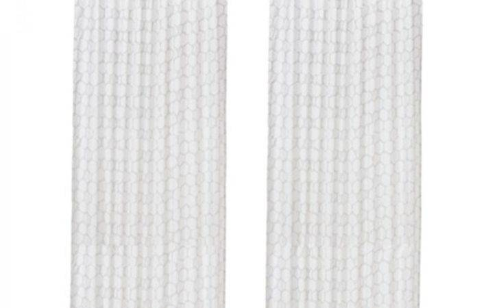 Ikea Flong Drapes Curtains Striped Gray White Grey