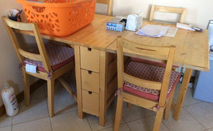 Ikea Kitchen Table Folding Four Chairs