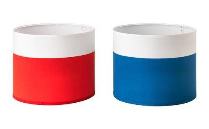 Ikea Lamp Shade White Red Blue New Ebay