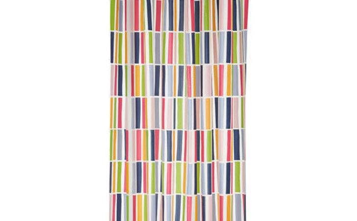 Ikea Nidelva Shower Curtain Striped Multicolor New Ebay