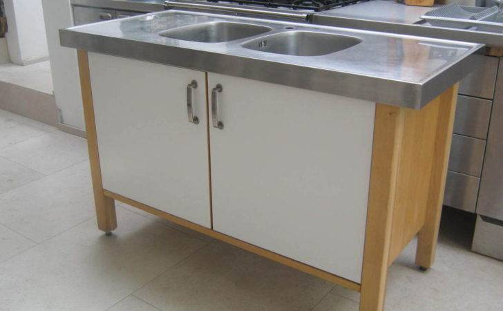 Ikea Varde Kitchen Standing Stainless Steel Double