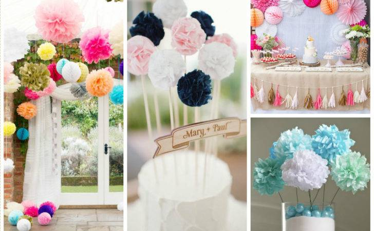 Impressive Pom Poms Wedding Decorations Kibuck