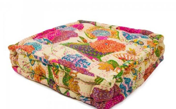 Indian Flower Floor Cushion Boutique Camping