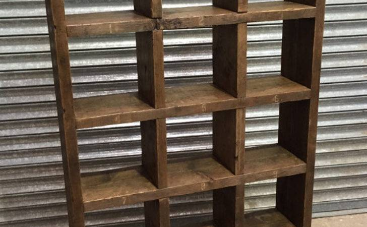 Industrial Cycled Pigeon Hole Shelving Unit