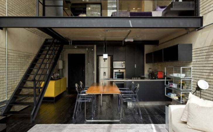 Industrial Loft Great Interior Design Brick Like