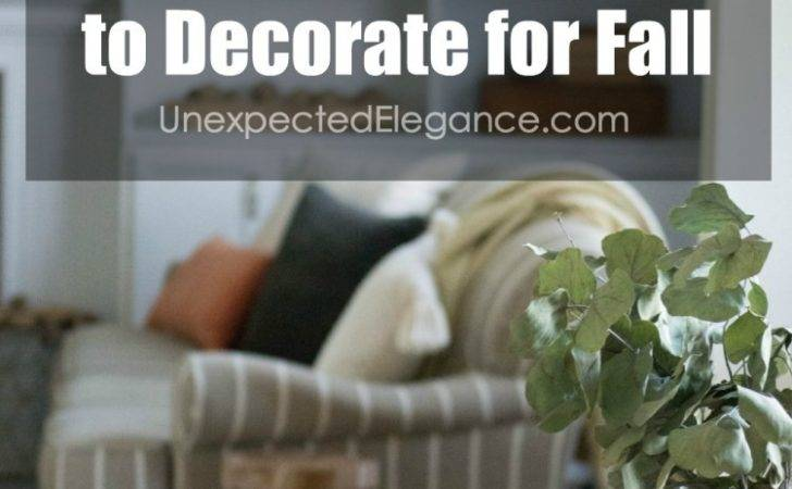 Inexpensive Ways Decorate Fall Unexpected Elegance
