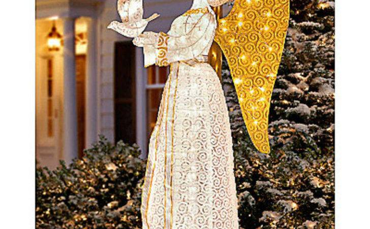 Inspirational Angel Dove Lighted Christmas Outdoor