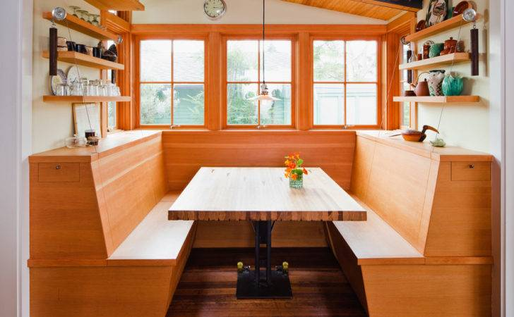 Inspired Banquette Bench Kitchen Eclectic