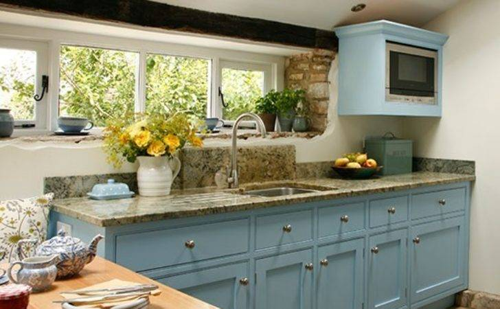 Inspired Blue Country Kitchen Makeover