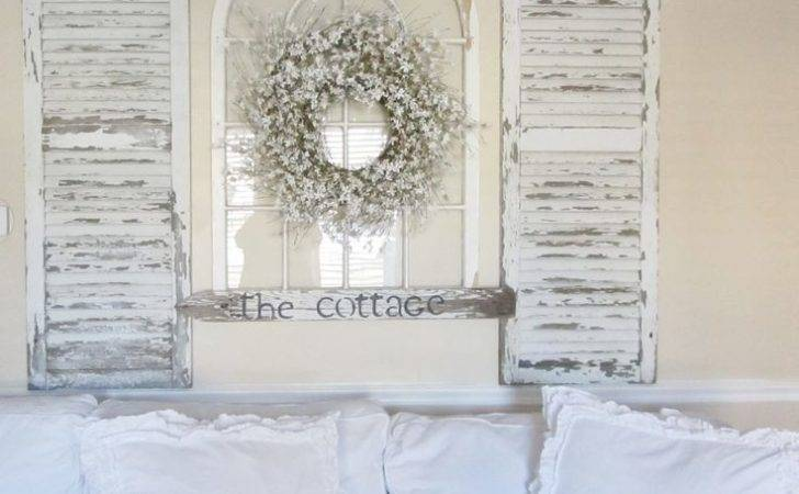Inspiring Ways Vintage Shutters Your Walls