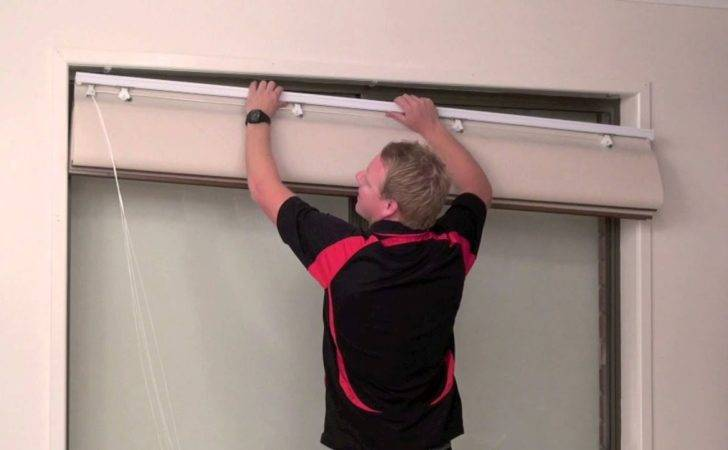 Install Reveal Recess Fit Roman Blind Youtube