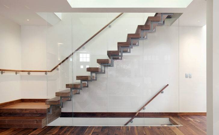 Interior Modern Stairs Designs Wooden Treads