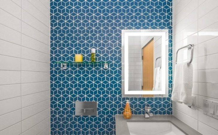 Interior Powder Room Feature Wall Modern Accent Ideas