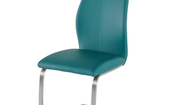 Irma Multi Coloured Chairs Teal Faux Leather Dining