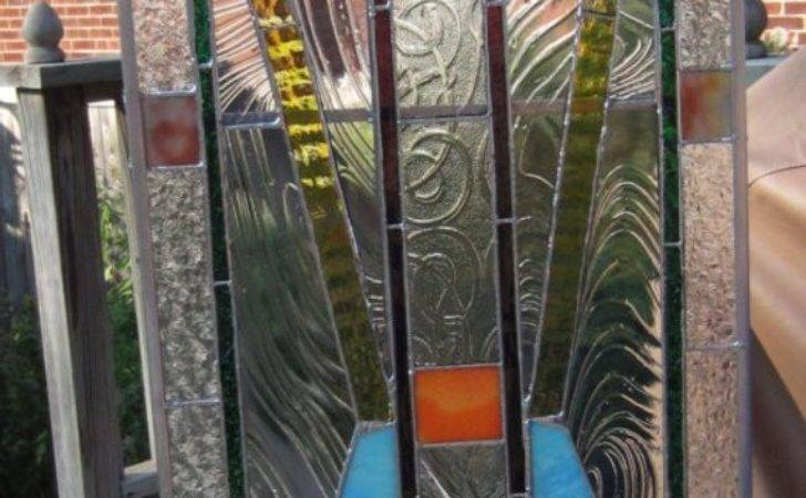 Items Similar Art Deco Stained Glass Panel Insert