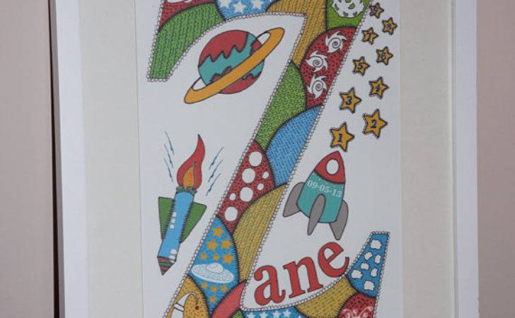 Items Similar Personalized Boys Name Space Solar System