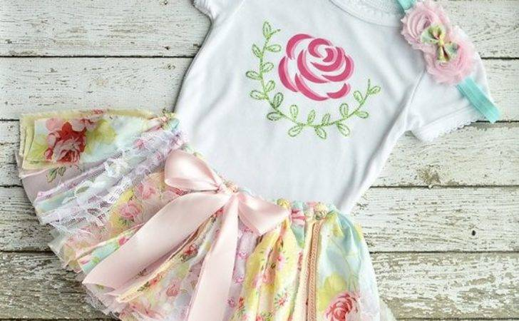 Items Similar Shabby Chic Vintage Baby Tutu Outfit
