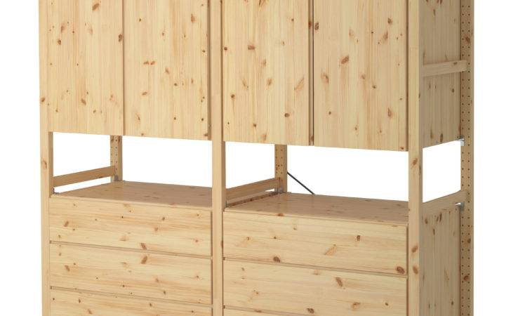Ivar Sections Cabinet Chest Pine Ikea