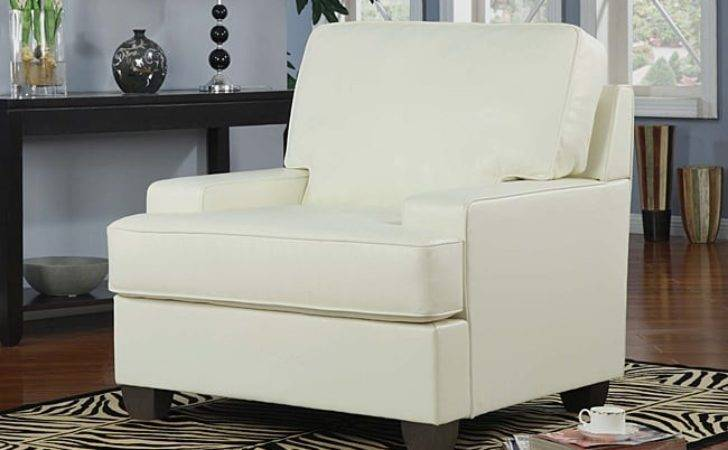 Ivory Bonded Leather Accent Chair Overstock Shopping