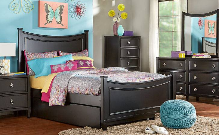 Jaclyn Place Black Twin Bedroom Teen Sets