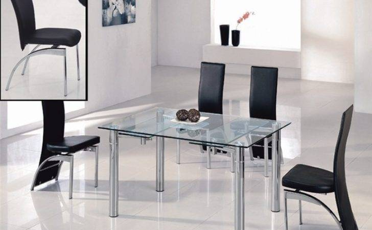 Java Extending Glass Dining Table Chairs