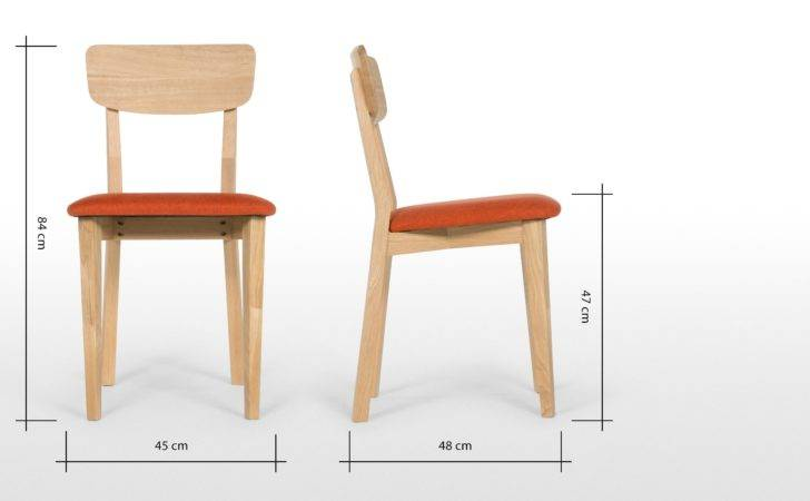 Jenson Dining Chairs Oak Retro Orange Made