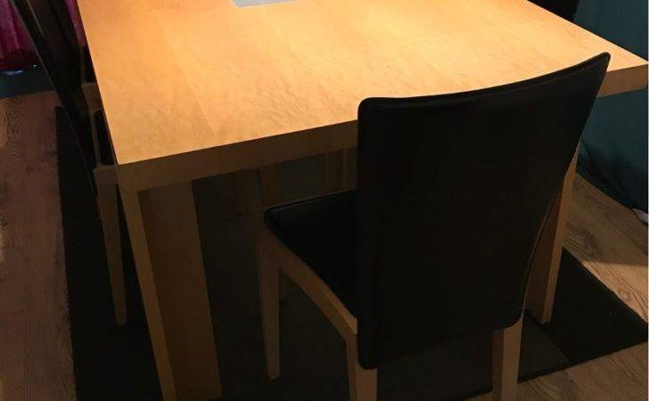 John Lewis Dining Table Leather Padded Chairs
