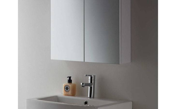 John Lewis White Metal Double Bathroom Cabinet