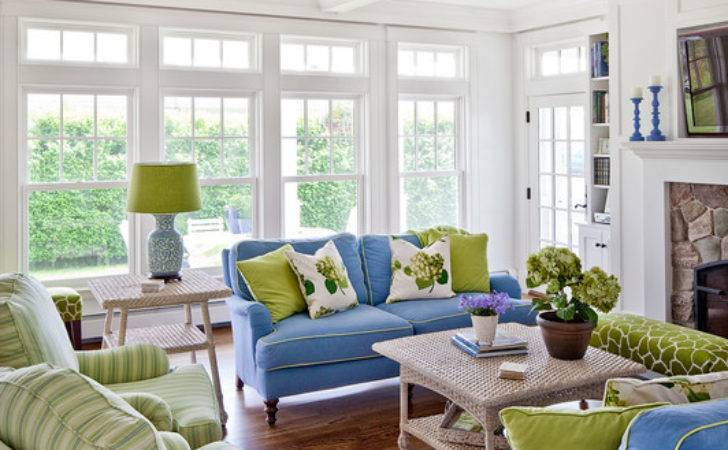 Kennebunk Beach House Style Living Room Other