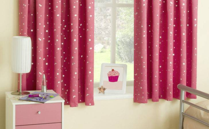 Kids Curtains Childrens Pink Ready Made Blackout